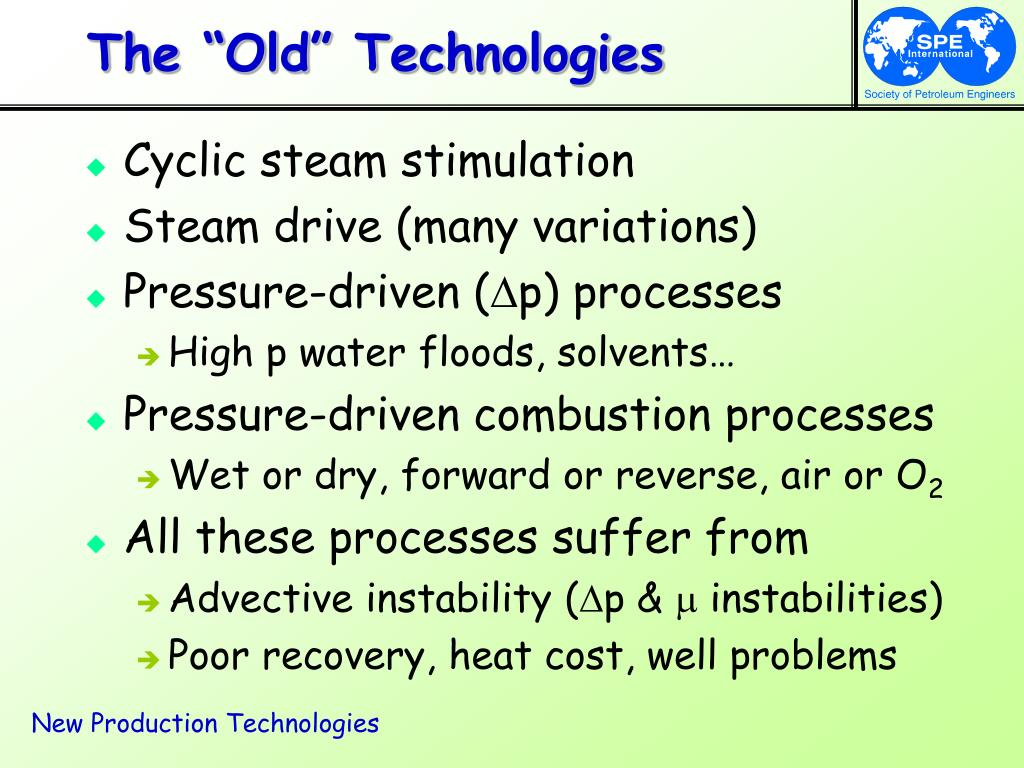 "The ""Old"" Technologies"