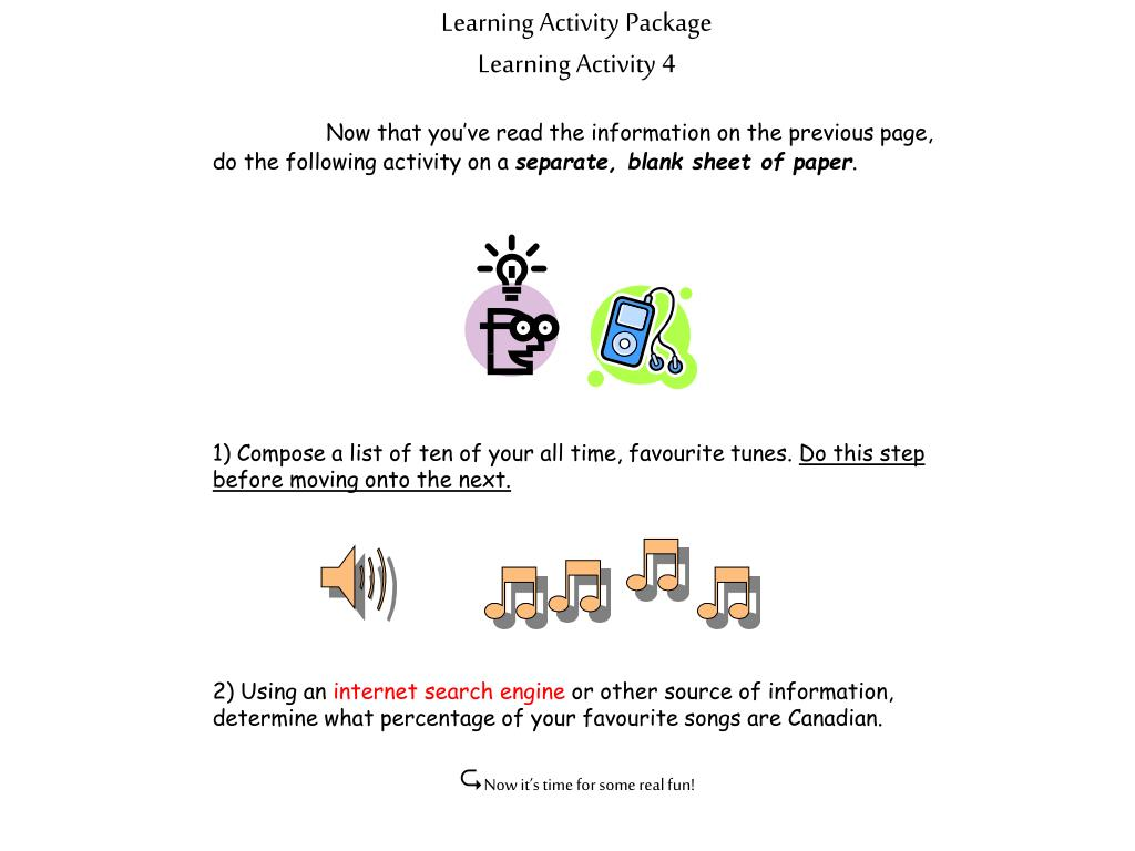 Learning Activity Package