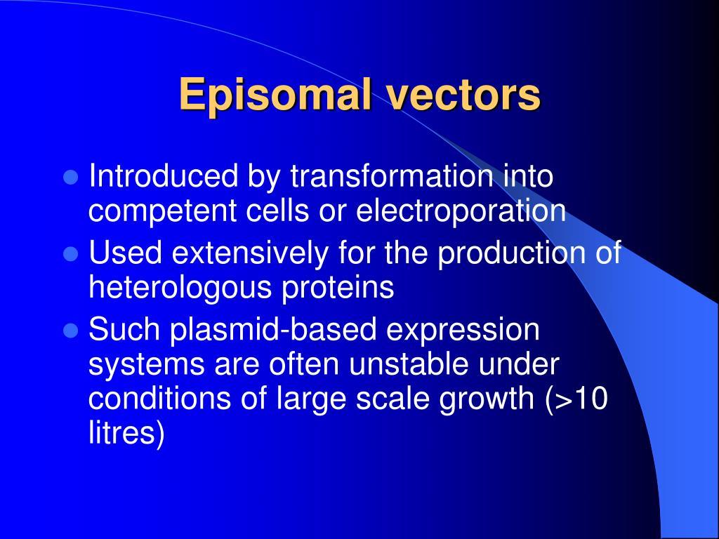 Episomal vectors