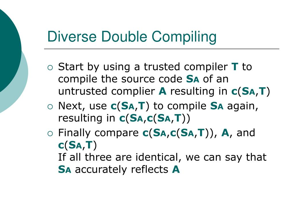Diverse Double Compiling