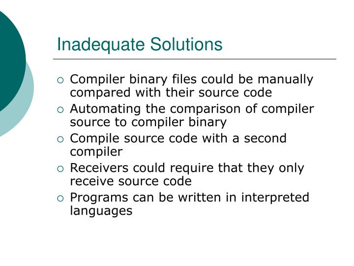 Inadequate solutions