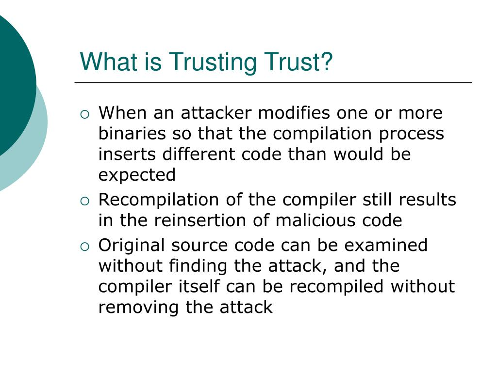 What is Trusting Trust?