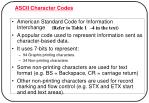 ascii character codes