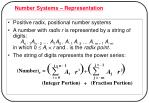 number systems representation