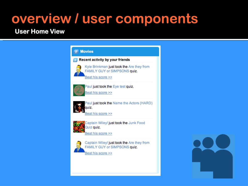 overview / user components