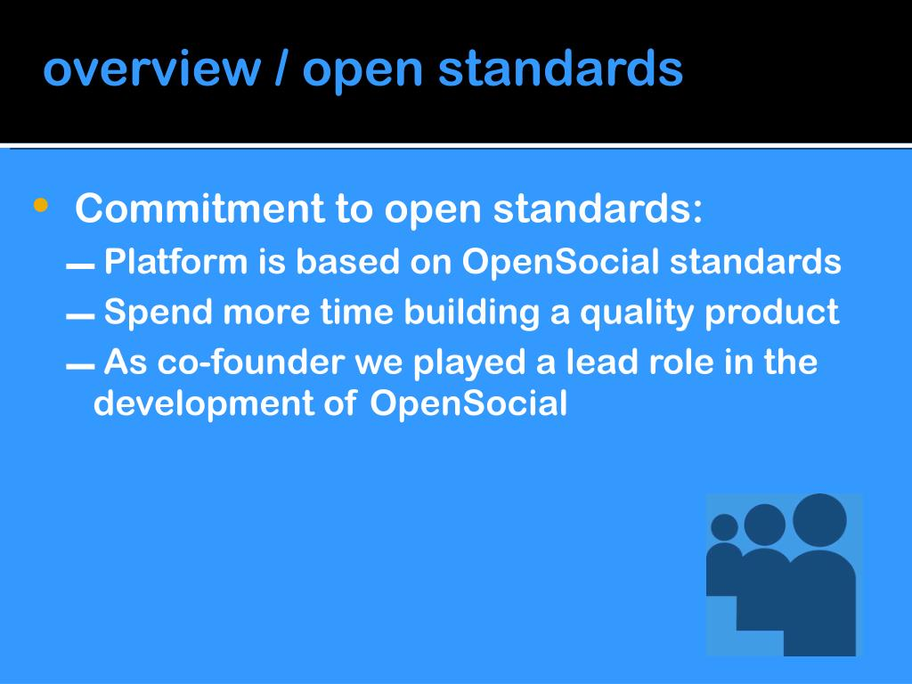overview / open standards