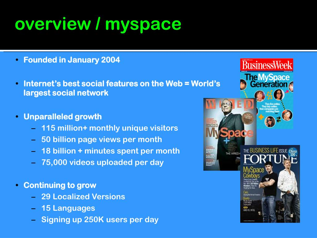 overview / myspace