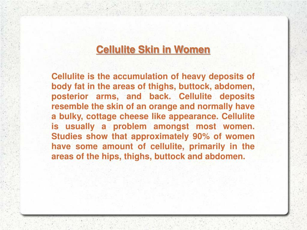Cellulite Skin in Women