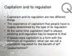 capitalism and its regulation