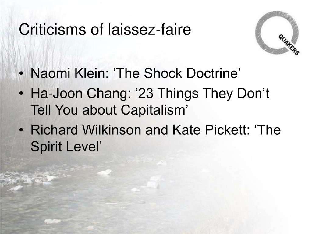 Criticisms of laissez-faire