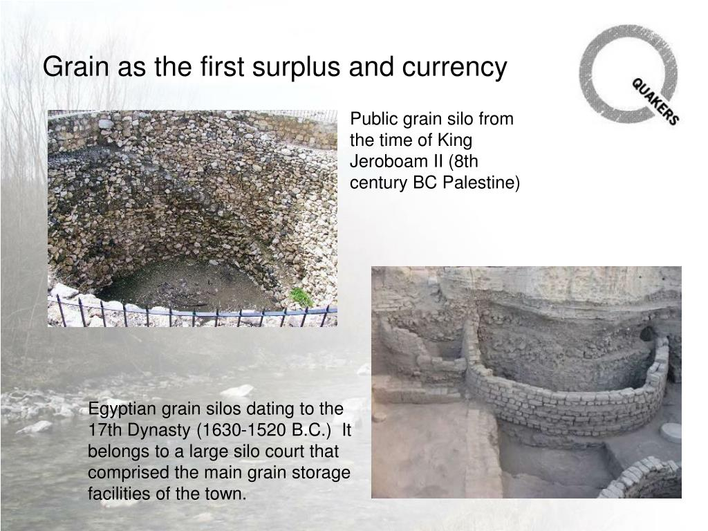 Grain as the first surplus and currency