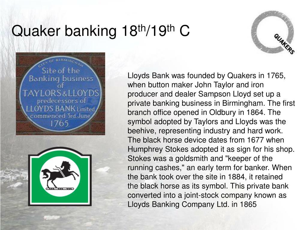 Quaker banking 18