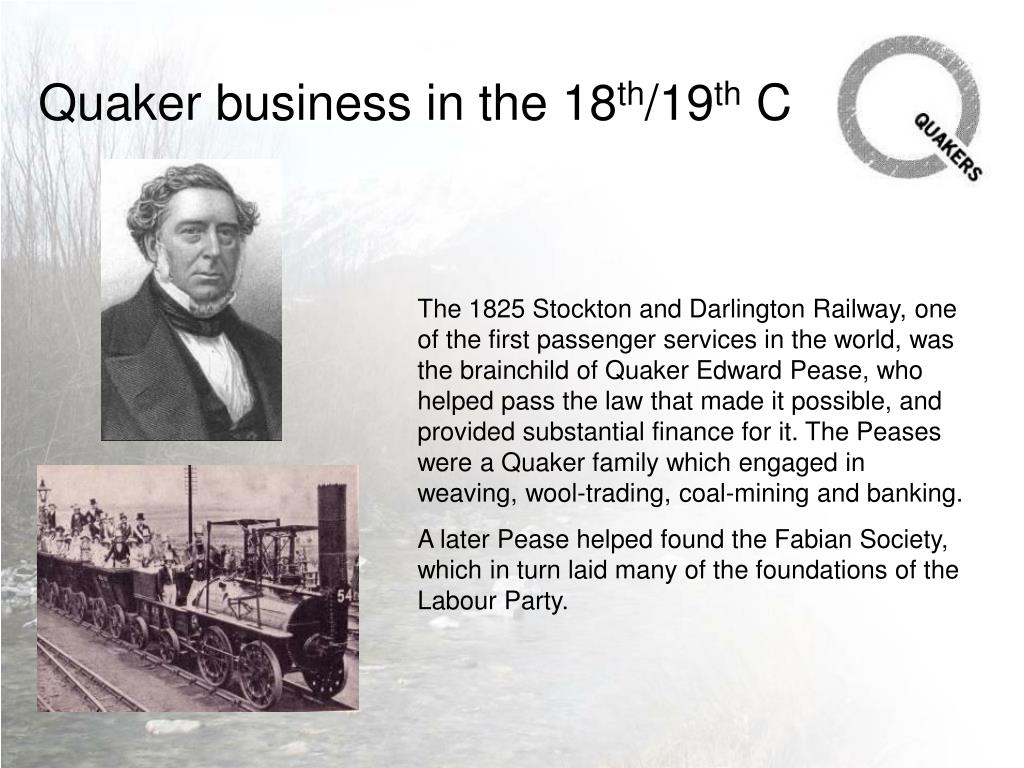 Quaker business in the 18