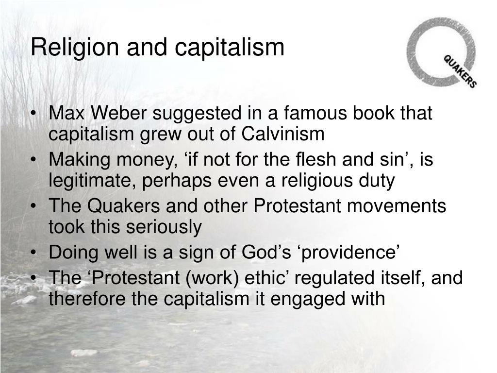 Religion and capitalism