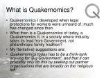 what is quakernomics29