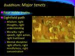 buddhism major tenets