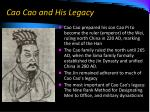 cao cao and his legacy
