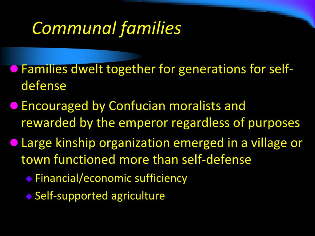Communal families