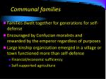 communal families
