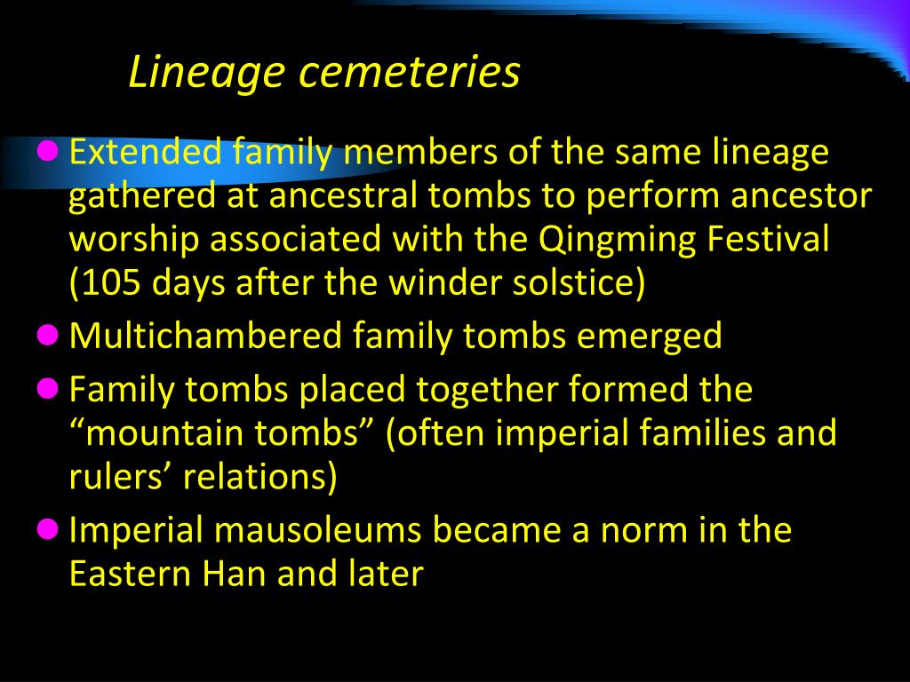 Lineage cemeteries