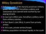 military dynasticism