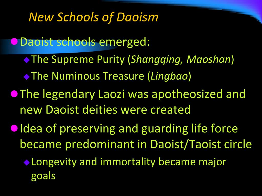 New Schools of Daoism