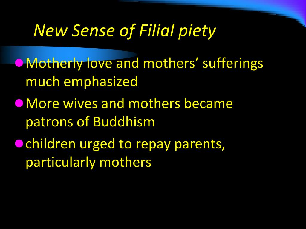 New Sense of Filial piety
