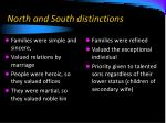 north and south distinctions
