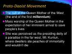 proto daoist movement