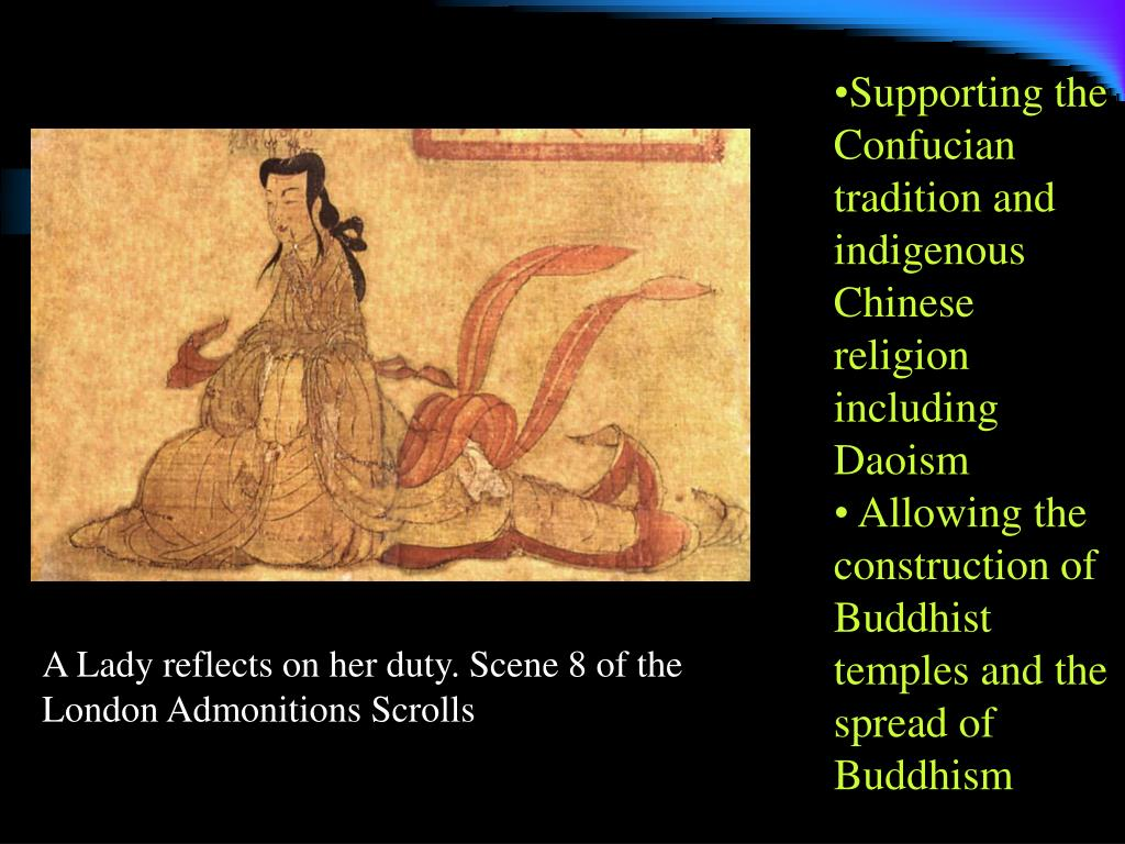Supporting the Confucian tradition and  indigenous Chinese religion including Daoism
