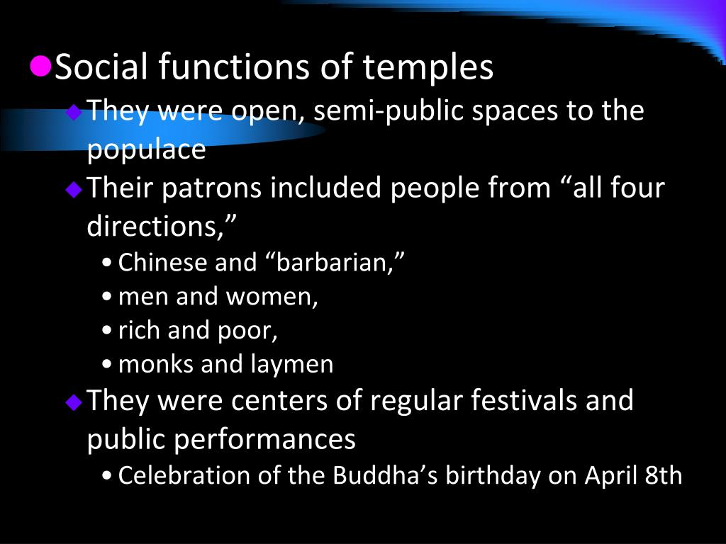 Social functions of temples