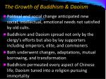 the growth of buddhism daoism