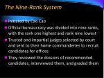the nine rank system