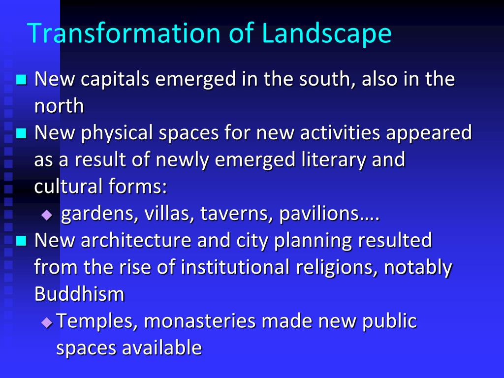Transformation of Landscape
