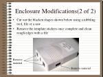 enclosure modifications 2 of 2