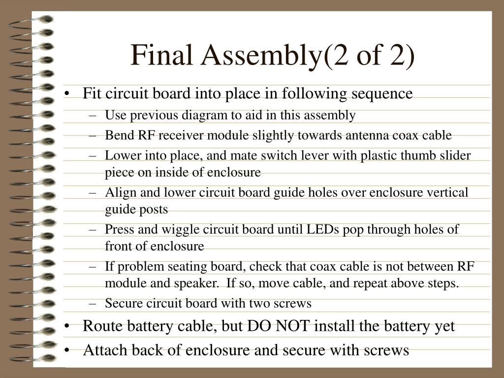 Final Assembly(2 of 2)