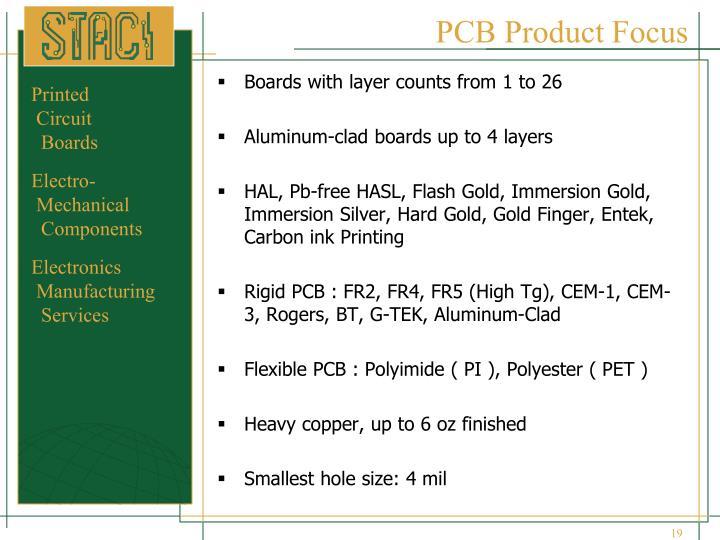 PCB Product Focus