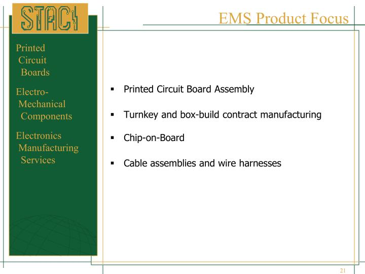EMS Product Focus