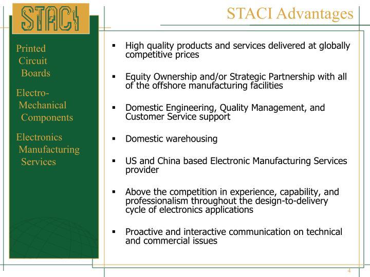 STACI Advantages