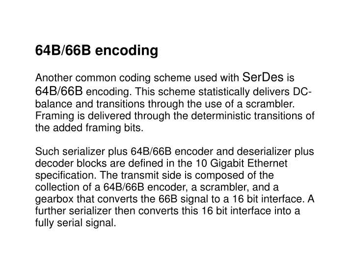64B/66B encoding