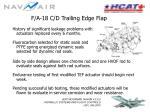 f a 18 c d trailing edge flap