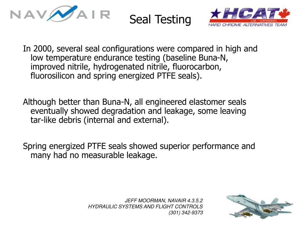 Seal Testing