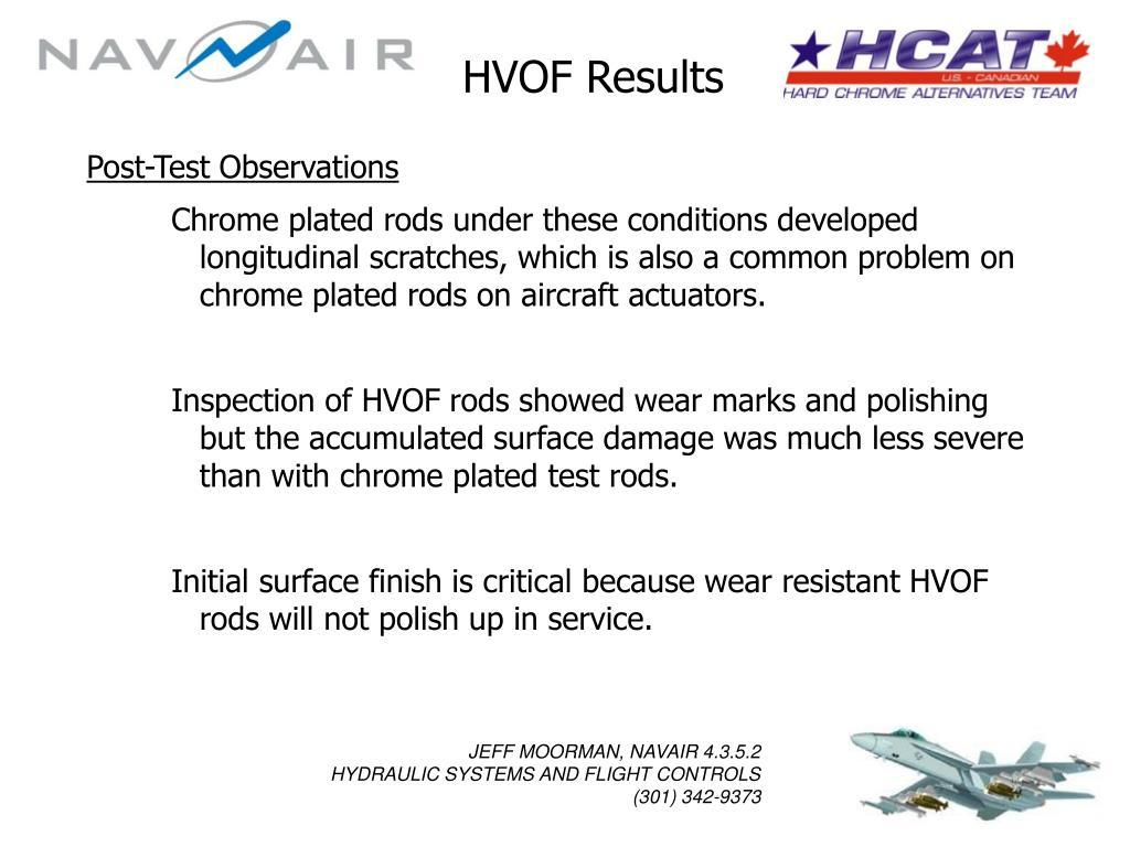HVOF Results