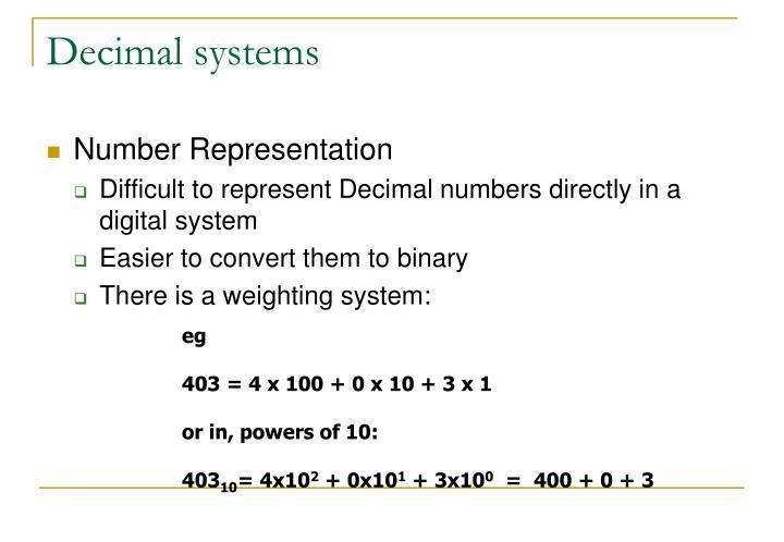 Decimal systems