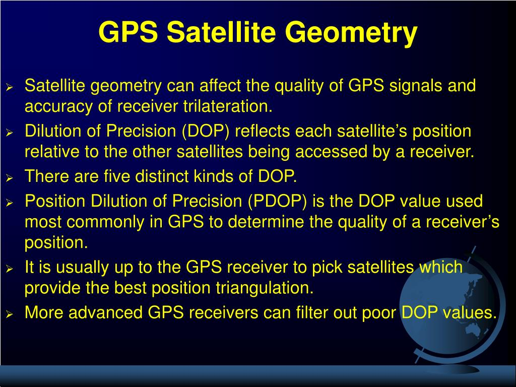 GPS Satellite Geometry