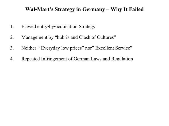 wal mart failure in german