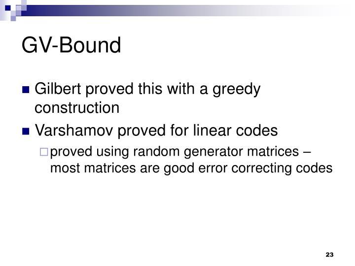 GV-Bound