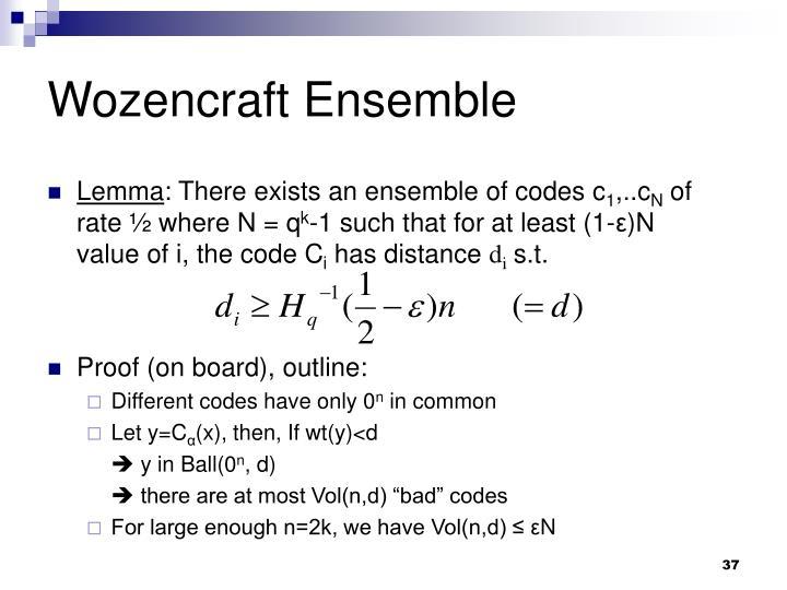 Wozencraft Ensemble