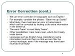 error correction cont
