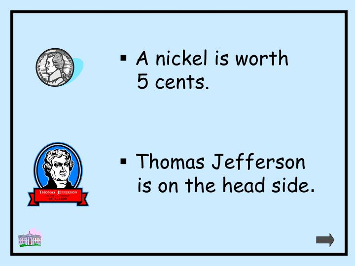 A nickel is worth